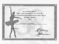 "Borsa di studio "" Kurashin Russian Ballet"" a Simona Vallone"