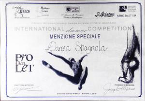 Menzione Speciale - Danza Spagnola