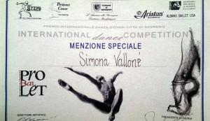 Menzione speciale - Simona Vallone